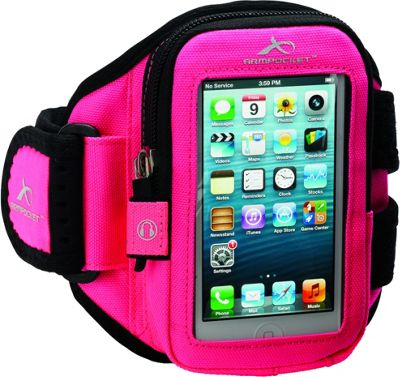 Armpocket AERO i-10 travel gear for iPhone SE, iPhone 5 or up to 5 inch. Small Strap Length. Pink - Armpocket Electronic Cases
