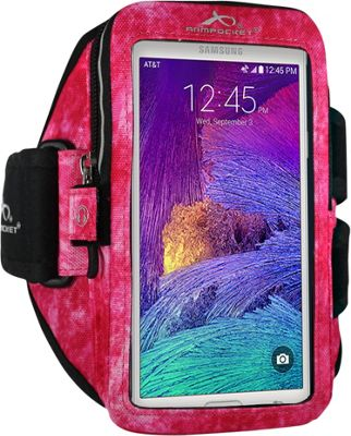 Armpocket MEGA i-40 Multi-Compartment Armband for Devices up to 6.5 inch - Medium Strap Length Arctic Berry - Armpocket Electronic Cases