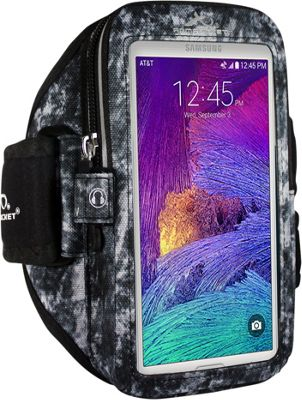 Armpocket MEGA i-40 Multi-Compartment Armband for Devices up to 6.5 inch - Medium Strap Length Arctic Storm - Armpocket Electronic Cases