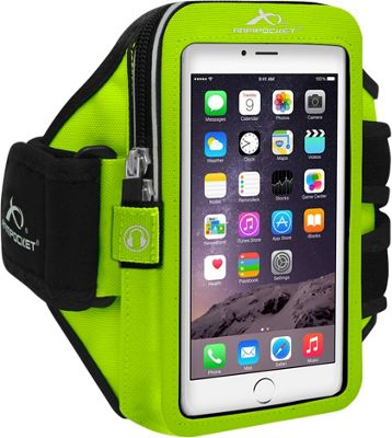 Armpocket MEGA i-40 Multi-Compartment Armband for Devices up to 6.5 inch - Medium Strap Length Yellow - Armpocket Electronic Cases