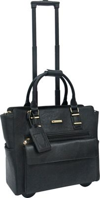 Cabrelli Gwenyth Rolling Briefcase BLACK/BLACK - Cabrelli Wheeled Business Cases