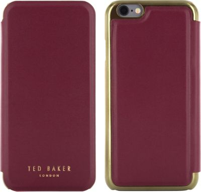Ted Baker AW16 iPhone 6 & 7 Mirror Folio Case Oxblood - Ted Baker Electronic Cases