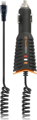 ToughTested Pro Lightning Charger with Slim Tip and Pivoting Cord Black-Orange - ToughTested Portable Batteries & Chargers