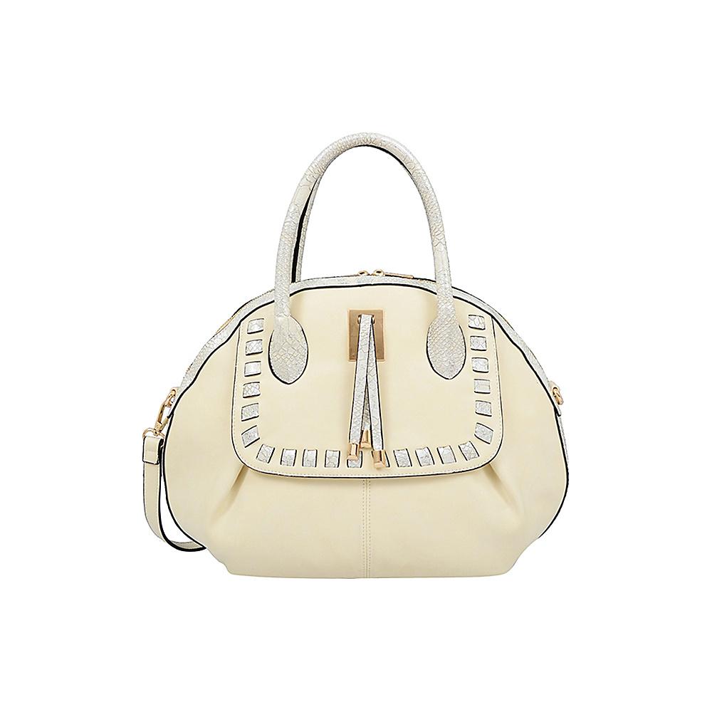 Mellow World Maya Satchel Beige - Mellow World Manmade Handbags