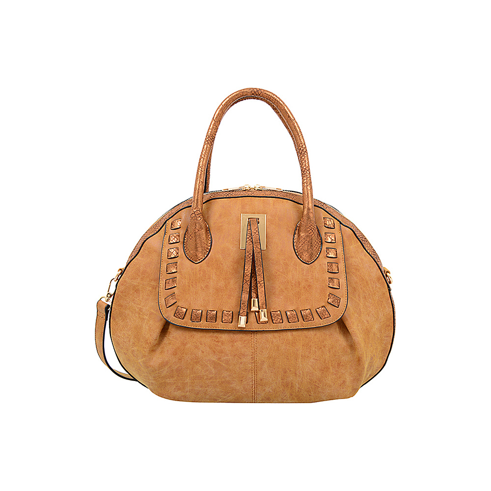 Mellow World Maya Satchel Camel - Mellow World Manmade Handbags
