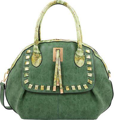 Mellow World Maya Satchel Emerald - Mellow World Manmade Handbags