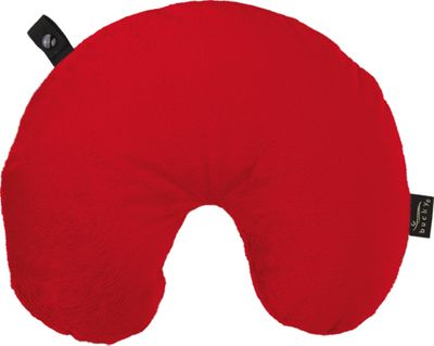 Bucky Fun Fur Neck Pillow with Snap & Go Red - Bucky Travel Comfort and Health