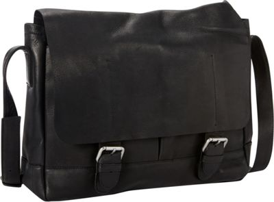 Petersons Heritage Leather Messenger Black - Petersons Messenger Bags