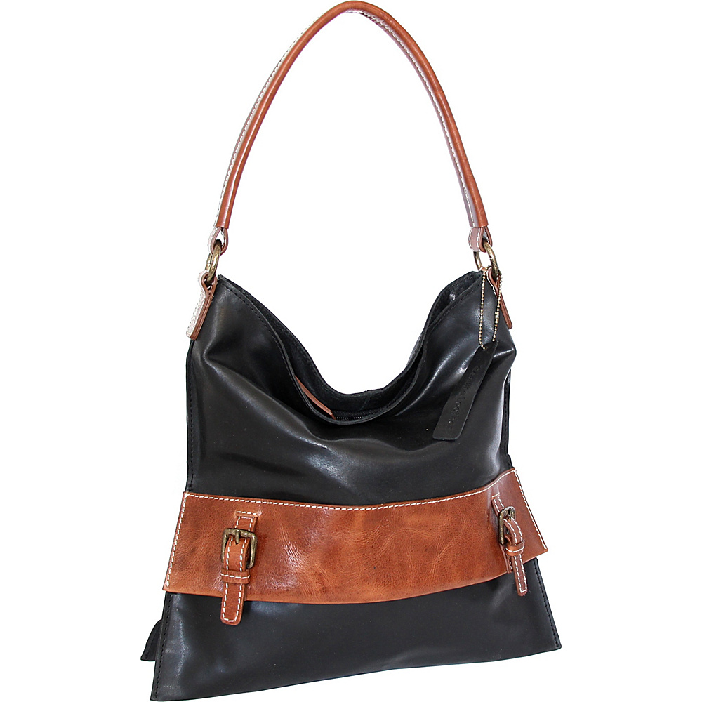 Nino Bossi Britt Shoulder Bag Black - Nino Bossi Leather Handbags - Handbags, Leather Handbags