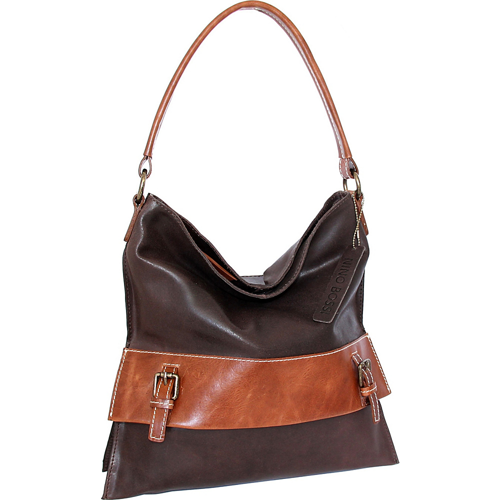 Nino Bossi Britt Shoulder Bag Chocolate - Nino Bossi Leather Handbags - Handbags, Leather Handbags