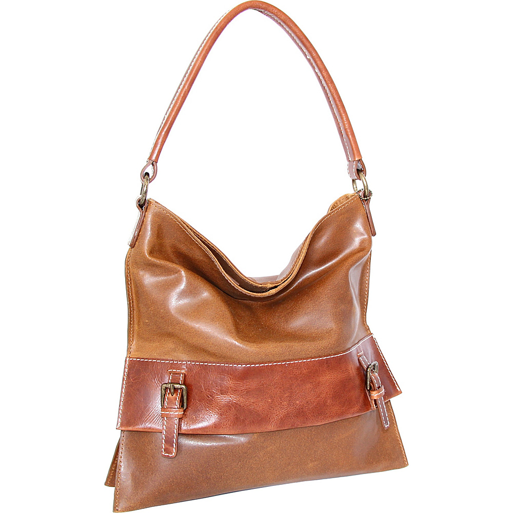 Nino Bossi Britt Shoulder Bag Saddle - Nino Bossi Leather Handbags - Handbags, Leather Handbags