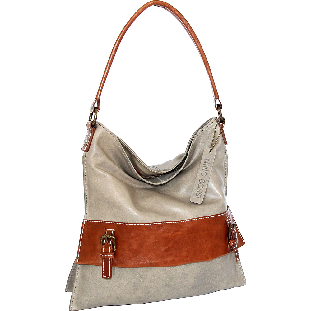 Nino Bossi Britt Shoulder Bag Stone - Nino Bossi Leather Handbags - Handbags, Leather Handbags