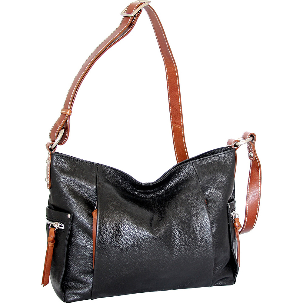 Nino Bossi Patrice Crossbody Bag Black - Nino Bossi Leather Handbags - Handbags, Leather Handbags
