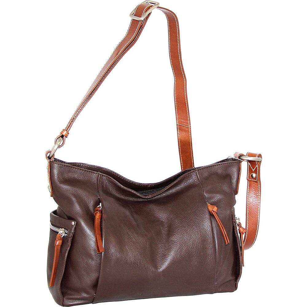 Nino Bossi Patrice Crossbody Bag Chocolate - Nino Bossi Leather Handbags - Handbags, Leather Handbags