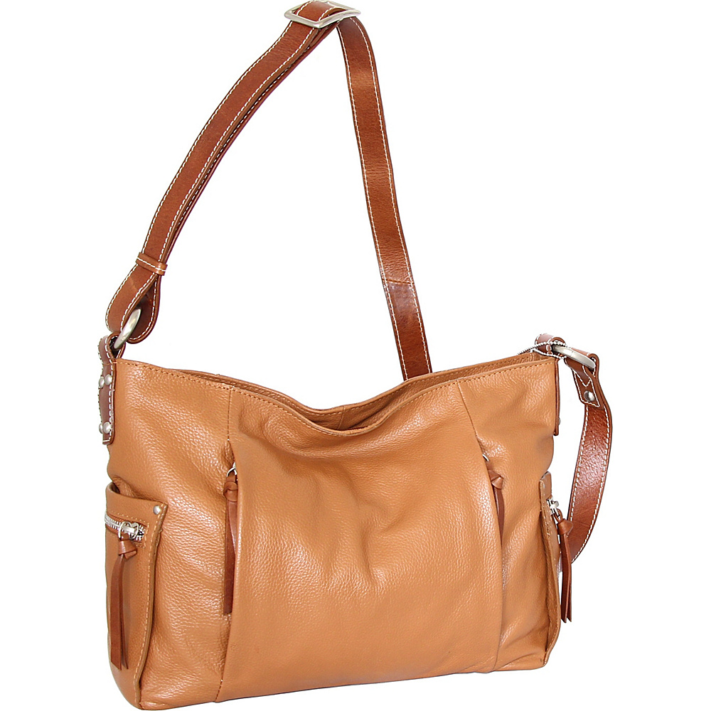 Nino Bossi Patrice Crossbody Bag Cognac - Nino Bossi Leather Handbags - Handbags, Leather Handbags