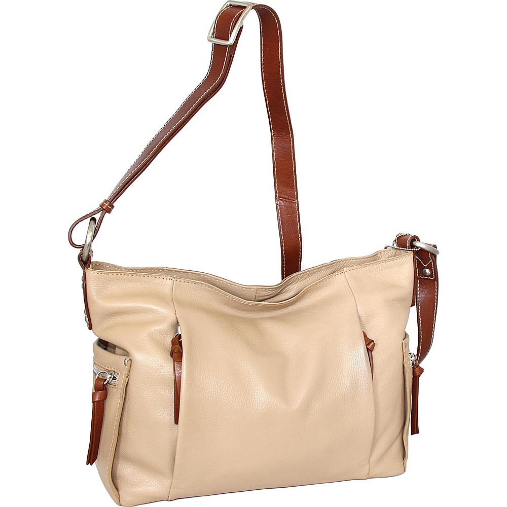 Nino Bossi Patrice Crossbody Bag Sand - Nino Bossi Leather Handbags - Handbags, Leather Handbags