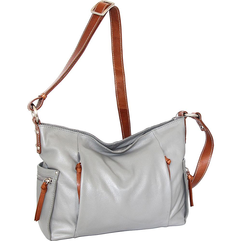 Nino Bossi Patrice Crossbody Bag Stone - Nino Bossi Leather Handbags - Handbags, Leather Handbags