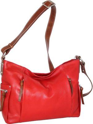 Nino Bossi Patrice Crossbody Bag Tomato - Nino Bossi Leather Handbags