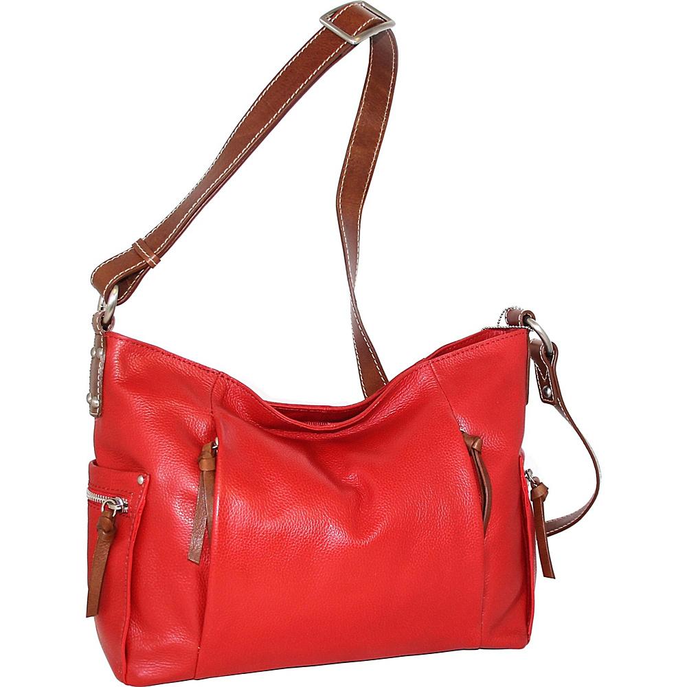 Nino Bossi Patrice Crossbody Bag Tomato - Nino Bossi Leather Handbags - Handbags, Leather Handbags