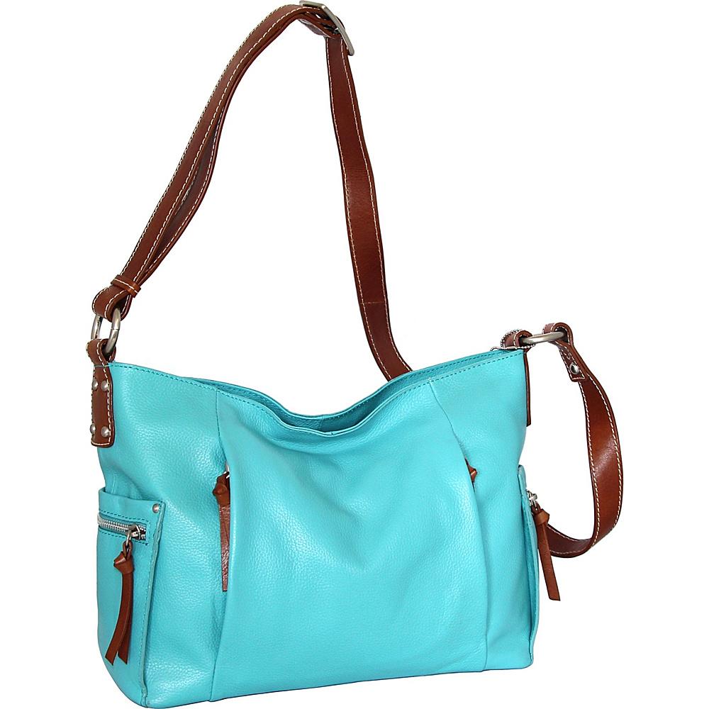 Nino Bossi Patrice Crossbody Bag Turquoise - Nino Bossi Leather Handbags - Handbags, Leather Handbags