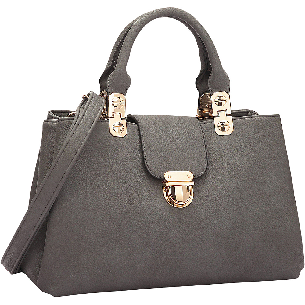 Dasein Fashion Double Pocket Satchel Dark Grey - Dasein Gym Bags - Sports, Gym Bags