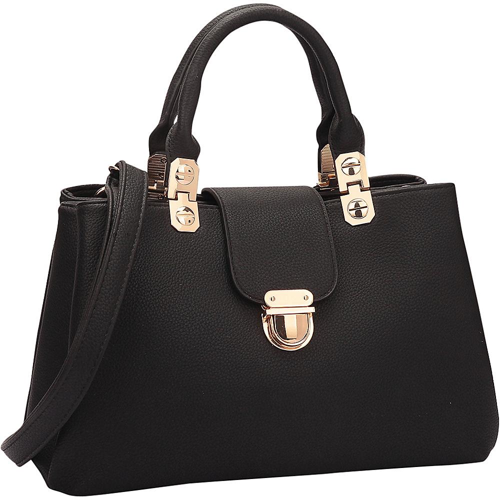 Dasein Fashion Double Pocket Satchel Black - Dasein Gym Bags - Sports, Gym Bags