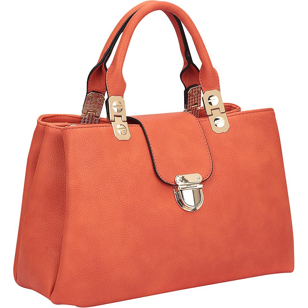 Dasein Fashion Double Pocket Satchel Orange - Dasein Gym Bags - Sports, Gym Bags
