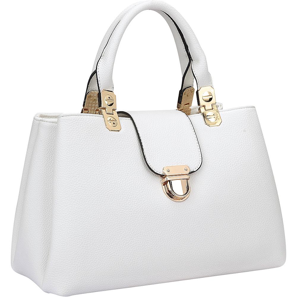 Dasein Fashion Double Pocket Satchel White - Dasein Gym Bags - Sports, Gym Bags