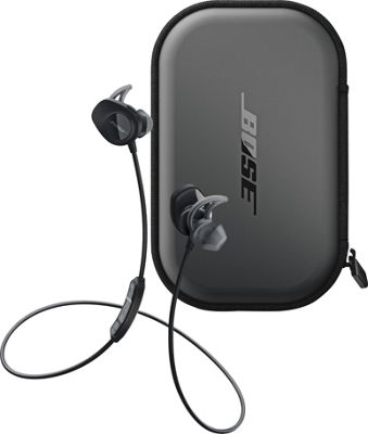 Bose SoundSport Wireless Headphones + SoundSport Charging Case Black - Bose Headphones & Speakers