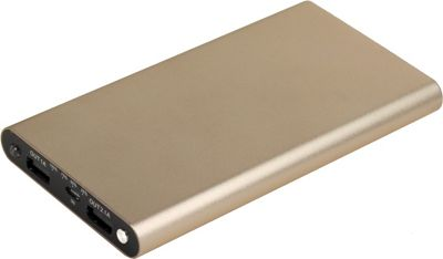 Digital Treasures SlimLine 7500 mAh Lightweight Dual USB Charger Gold - Digital Treasures Portable Batteries & Chargers