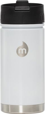 Mizu Inc V5 Water Bottle with Coffee Lid Glossy White - Mizu Inc Hydration Packs and Bottles