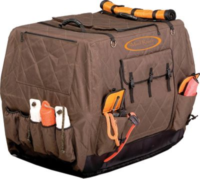 Mud River Dixie Insulated Kennel Cover - Large Extended Brown - Mud River Pet Bags