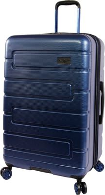 Original Penguin Luggage Original Penguin Luggage Crimson 29 inch Expandable Hardside Checked Spinner Luggage Metallic Blue - Original Penguin Luggage Hardside Checked