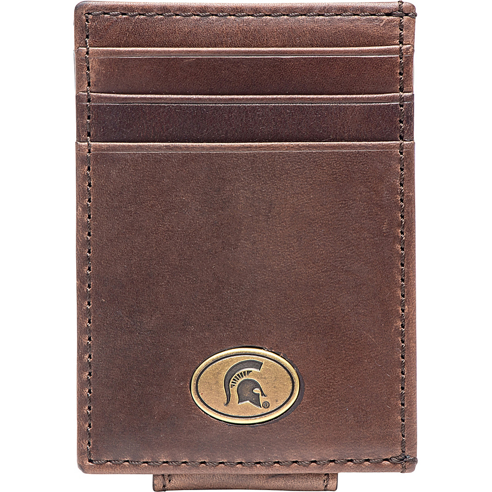 Jack Mason League NCAA Legacy Magnetic Front Pocket Wallet Michigan State - Jack Mason League Mens Wallets - Work Bags & Briefcases, Men's Wallets