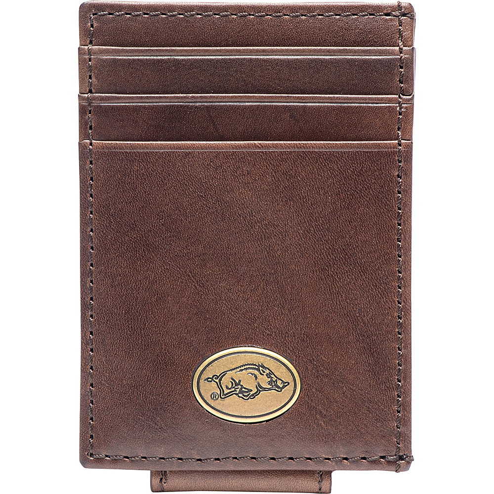 Jack Mason League NCAA Legacy Magnetic Front Pocket Wallet Arkansas - Jack Mason League Mens Wallets - Work Bags & Briefcases, Men's Wallets