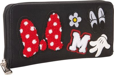 Loungefly Minnie Patches Wallet Black/Red - Loungefly Women's Wallets