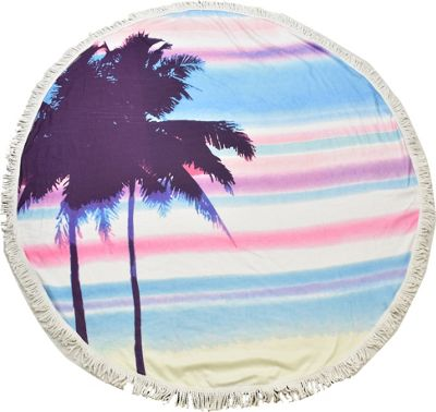 Lava Accessories Palm Tree Round Beach Towel Blue - Lava Accessories Travel Comfort and Health