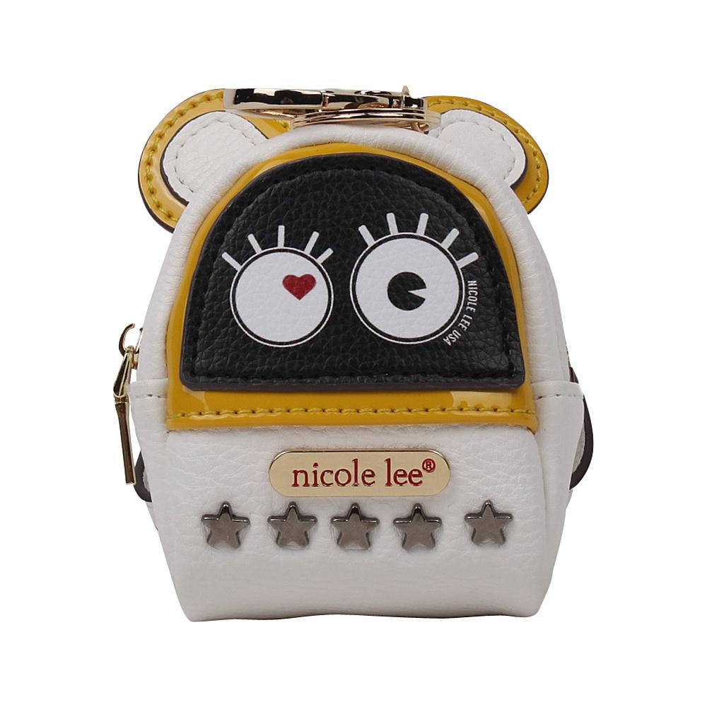 Nicole Lee Fushy Mouse Ear Mini Backpack Charm White - Nicole Lee Ladies Purse Accessories