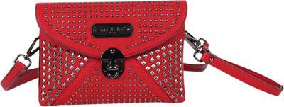 Nicole Lee Sanne Flip-Lock Envelope Wristlet Red - Nicole Lee Manmade Handbags