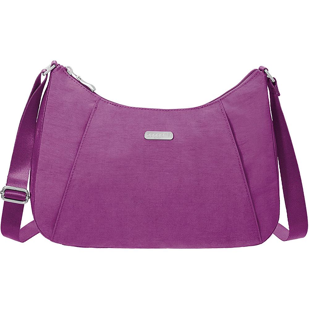 baggallini Slim Crossbody Hobo - Retired Colors Magenta - baggallini Fabric Handbags - Handbags, Fabric Handbags