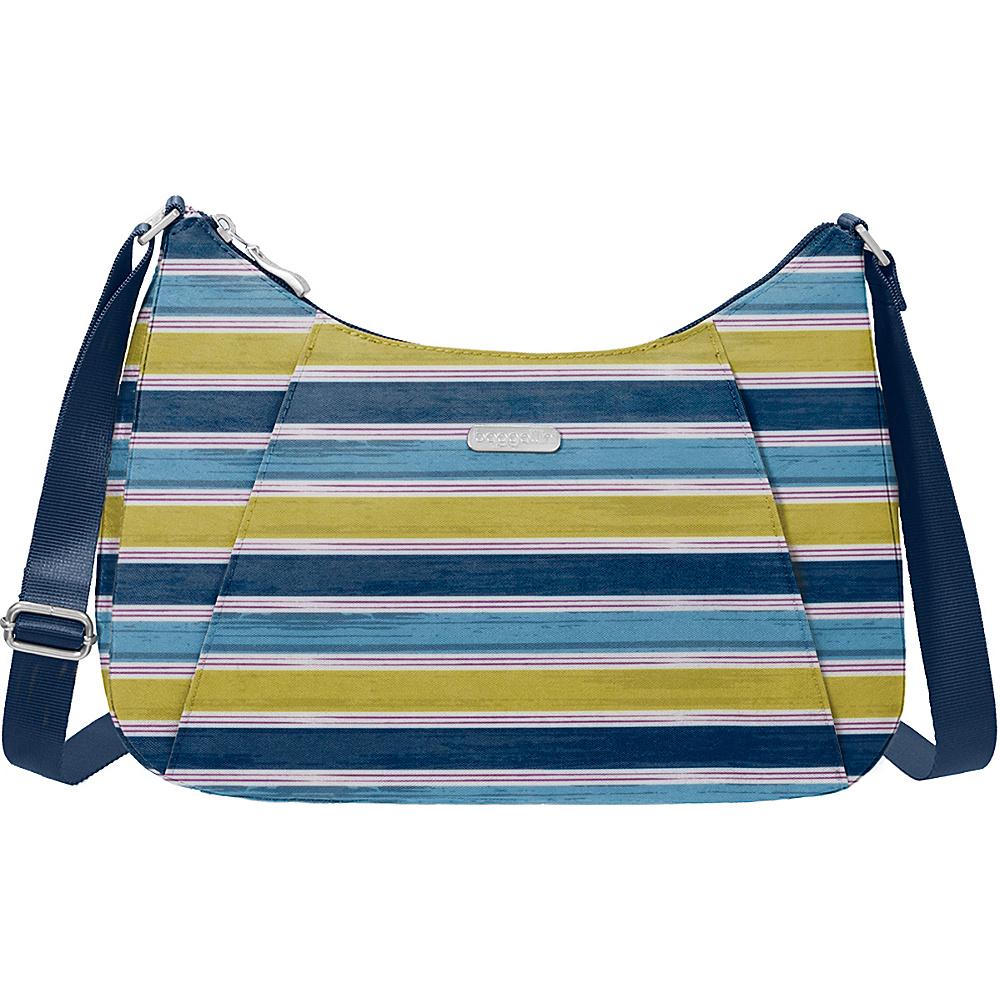 baggallini Slim Crossbody Hobo - Retired Colors Tropical Stripe - baggallini Fabric Handbags - Handbags, Fabric Handbags