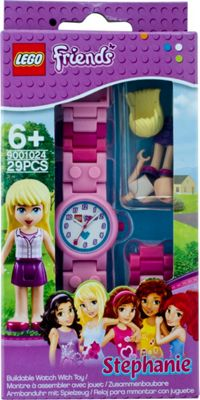 LEGO Watches Stephanie Kids Buildable Watch with Link Bracelet and Minifigure Pink - LEGO Watches Watches