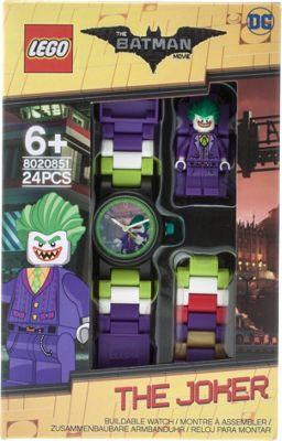 LEGO Watches Batman Movie The Joker Kids Minifigure Link Buildable Watch Purple - LEGO Watches Watches