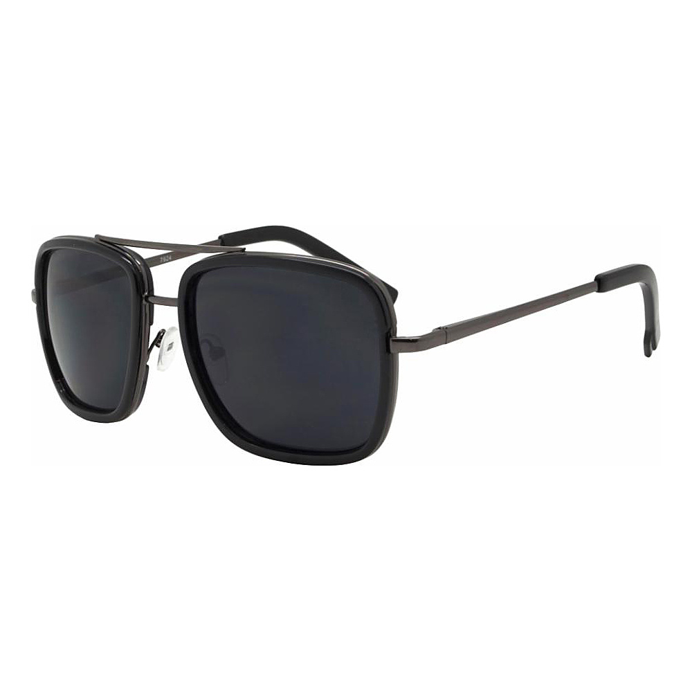 SW Global Rectangular Double Frame Retro Aviator UV400 Sunglasses Black - SW Global Eyewear - Fashion Accessories, Eyewear