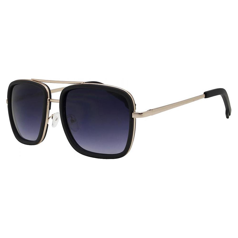 SW Global Rectangular Double Frame Retro Aviator UV400 Sunglasses Purple - SW Global Eyewear - Fashion Accessories, Eyewear