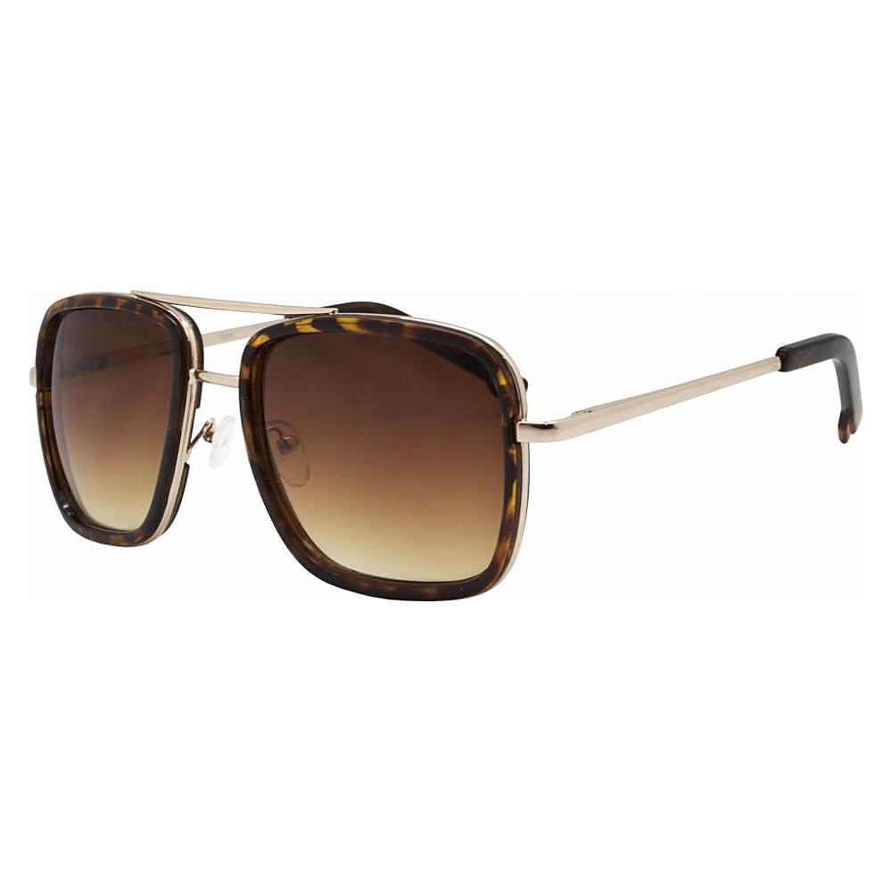 SW Global Rectangular Double Frame Retro Aviator UV400 Sunglasses Gold - SW Global Eyewear - Fashion Accessories, Eyewear