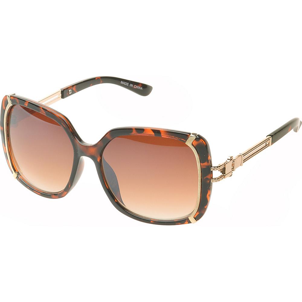 SW Global Ammityville Square Fashion Sunglasses Dark-Leopard - SW Global Eyewear - Fashion Accessories, Eyewear