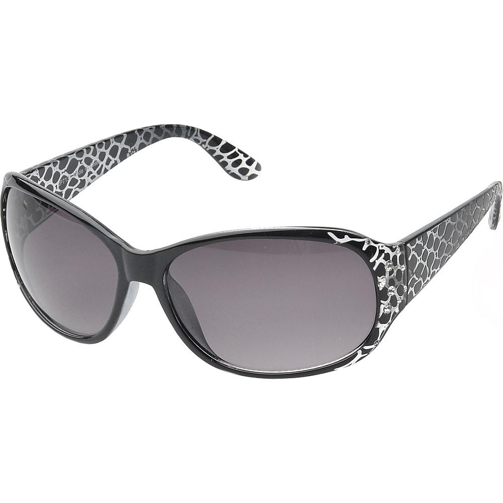 SW Global Keanna Rhinestone Sdded Rectangle Fashion Sunglasses Black - SW Global Eyewear - Fashion Accessories, Eyewear