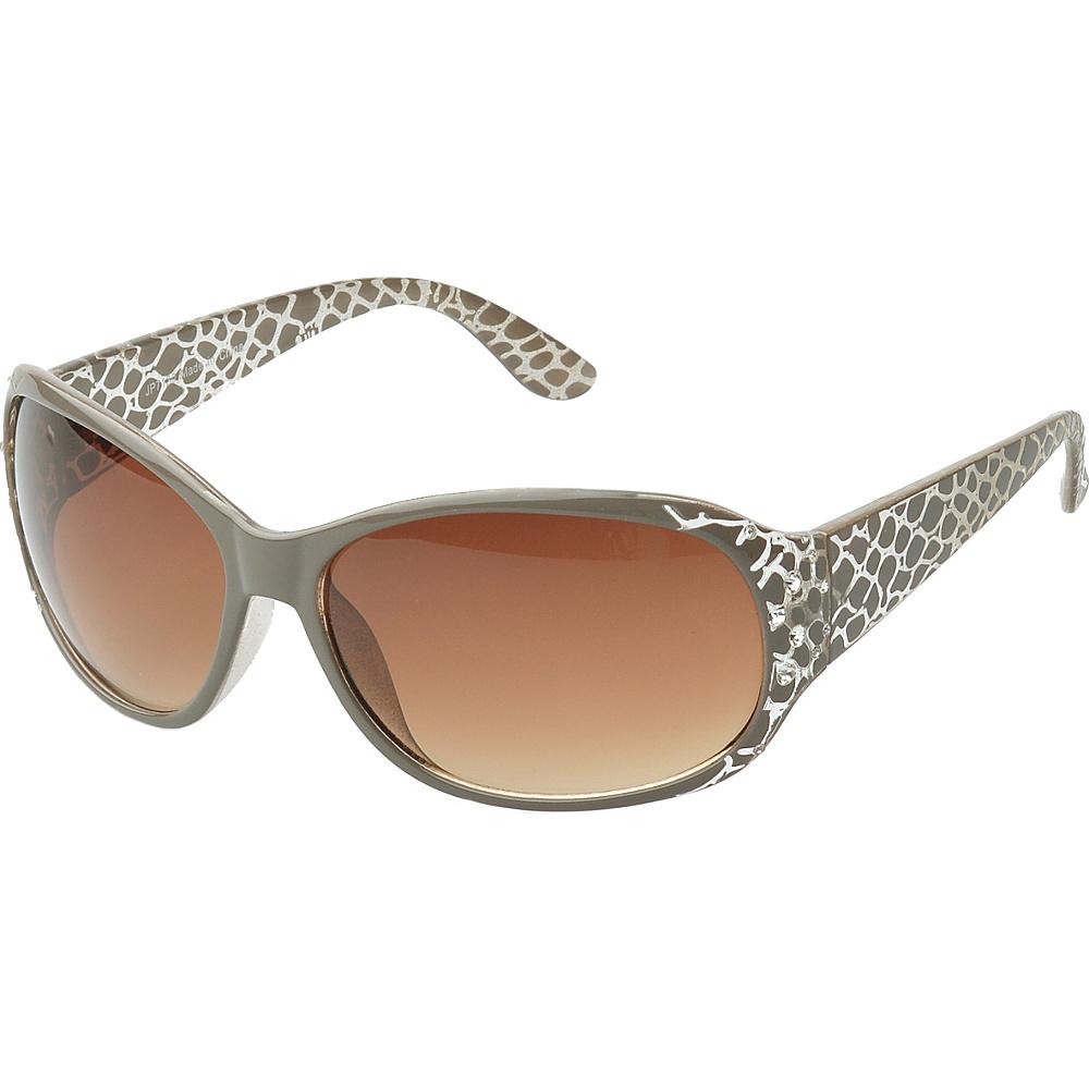 SW Global Keanna Rhinestone Sdded Rectangle Fashion Sunglasses Brown - SW Global Eyewear - Fashion Accessories, Eyewear