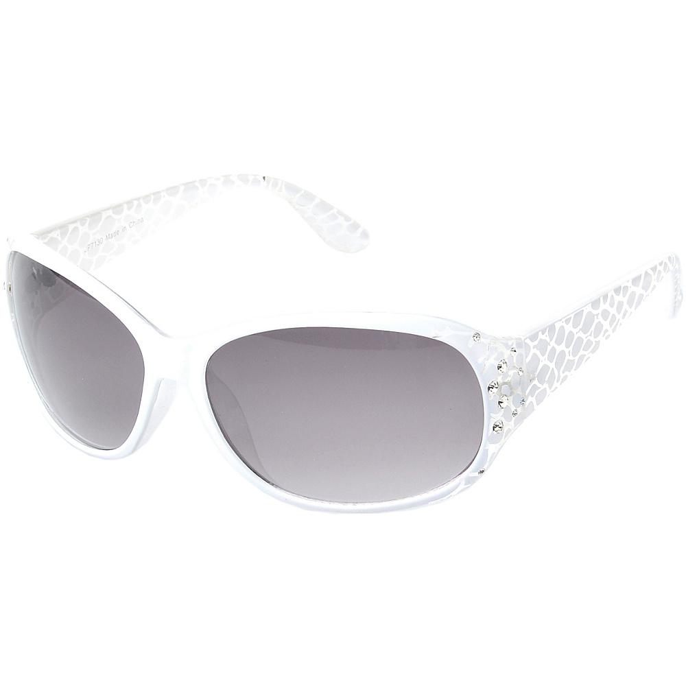 SW Global Keanna Rhinestone Sdded Rectangle Fashion Sunglasses White - SW Global Eyewear - Fashion Accessories, Eyewear